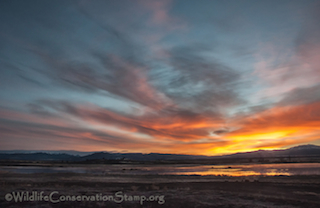 Sunrise at Modoc National Wildlife Refuge